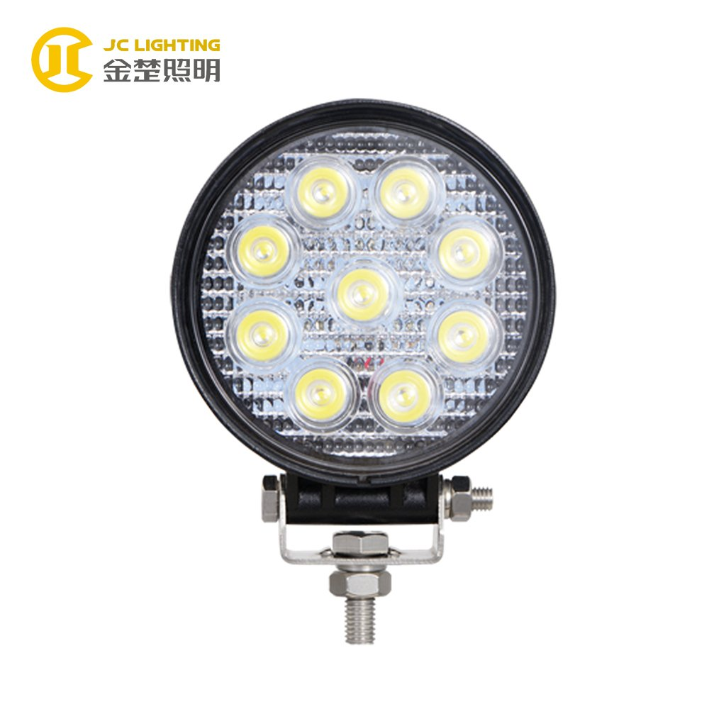 27w Led Work Light : Jc f w round offroad led work light for truck